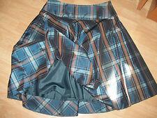 TALLA 42,44,46  REBAJAS Michel Vustos preciosa falda con forro cuadros  mujer
