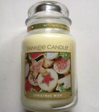 Yankee Candle CHRISTMAS WISH 22 oz JAR RETURNING FAVORITE SCENT HTF