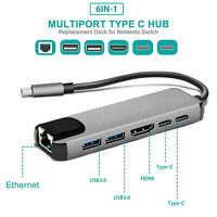 USB Typ C Hub Adapter Dock mit 4K HDMI PD RJ45 Ethernet Lan Charge für MacBook