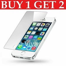 Screen Protector For Apple Iphone 5S 5 SE 5C - Tempered Glass 100% Genuine UK