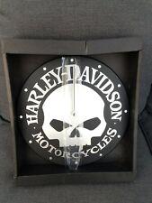 """WICKED 2006 HARLEY DAVIDSON BULOVA SKULL CLOCK 12"""" WALL SHOP GARAGE 99302-06V"""