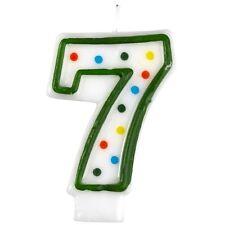 Producto oficial de Fiesta Amscan Lunares número Vela edad 7 para decoración de pasteles NUEVO