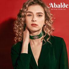 Collar Choker Verde Terciopelo Joya Mujer Cristal Vintage Accesorio 2018 Regalo