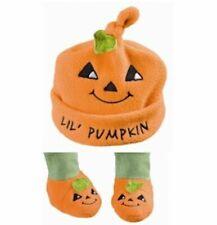 Grasslands Road Halloween Bootiful Baby Orange Hat & Booties - Lil Pumpkin