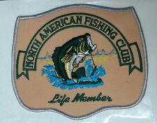 North American Fishing Club Life Member jacket patch large size 5-1/4 X 6-1/8