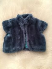 Gymboree Girl's Faux Fur Blue Dressy Vest Size 5/6 Holiday Winter Christmas