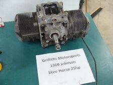 69 1969 JOHNSON 25 SKEE SKI HORSE J251M 70? 68 MOTOR OMC ENGINE CRANKCASE CRANK