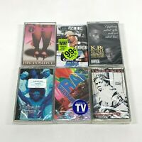 Lot 6 Cassette Tapes Rap Hip Hop 90's Lil Zane 112 K.B Lil Flea Street Military
