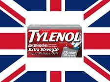 Tylenol Extra Strength 500 mg Rapid Release Gelcaps - 100ct-FREE WORLDWIDE SHIPP