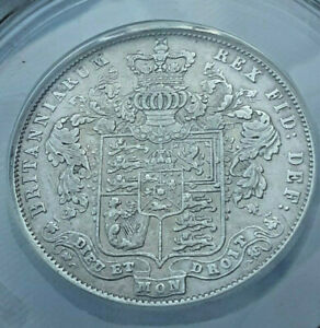 ANACS VF-35 details Great Britain 1825 half crown