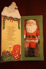 VINTAGE HALLMARK SANTA CLAUS COLLECTIBLE DOLL BRAND NEW