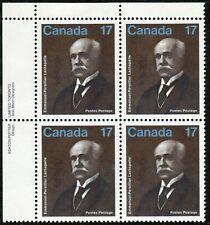Canada sc#877 Emmanuel-Persillier Lachapelle: Physician, UL Impr. Block, Mint-NH