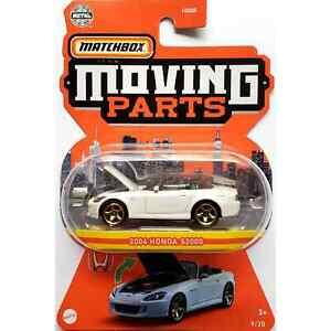 2004 Honda S2000 (White) - 2021 Matchbox Moving Parts Diecast Car