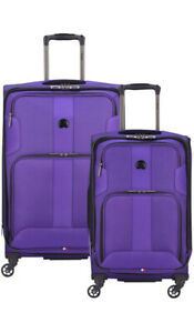 DELSEY Paris Sky Max 2.0 Softside Expandable Luggage with Spinner , Purple 2PC