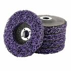 5PCS 4'x60# Poly Strip Disc Wheel Paint Rust Removal Clean for Angle Grinder
