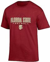 Florida State Seminoles Garnet Football Short Sleeve T Shirt by Champion