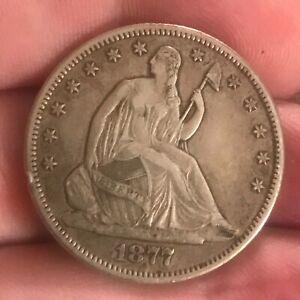 1877-cc seated Liberty half dollar  , XF