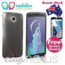 TPU Gel Jelly Case Cover for Motorola Google Nexus 6 - Dark Grey