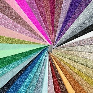 Shimmer Fine Glitter Fabric - 35 colours, safe for childrens crafts & bows