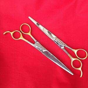 "Professional Pet Grooming Barber Scissors Curved 7.5 "" 19 cm Scissor clippers"