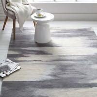 Zeal Grey Contrmporary Style Handmade 100% Wool Area Rugs & Carpet