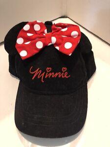 Infant Girls Minnie Mouse Baseball Hat Cap NWT Berkshire Fashions Black Courdury