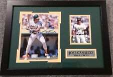 FRAMED SIGNED AUTOGRAPHED JOSE CANSECO OAKLAND A'S 8X10 PHOTO COLLAGE GTSM COA