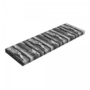 """Ambesonne Black and White Bench Pad HR Foam with Fabric Cover 45"""" x 15"""" x 2"""""""