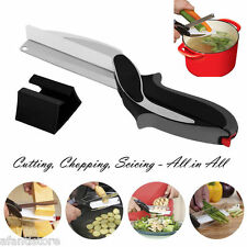 Salads Vegetables Meats Choppers Kitchen Scissors Cutting Board Chopping Cutter