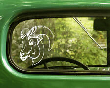 2 BIGHORN SHEEP DECAL Stickers For Car Window Truck Bumper Laptop Jeep RV