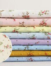 1yard*145cm Elegant Floral Cotton Gauze Polka Dot Fabric For Shirt Dress Kids