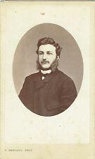 Photo cdv : Alphonse Bernoud ; Portrait d'un bourgeois Napolitain , vers 1865