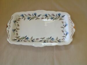 ROYAL ALBERT BRIGADOON SANDWICH TRAY EXCELLENT CONDITION FIRST QUALITY