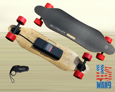 "38"" Electric LongBoard Motorized Remote Skateboard 300W Hub Motor Red"