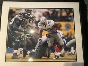 Emmitt Smith Autographed Dallas Cowboys 16x20 STEINER COA