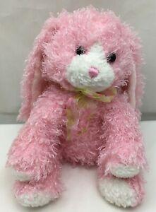 "Easter Bunny Rabbit Pink Shaggy Floppy Bow Aurora All Mine 2000 Plush 11"" Toy"