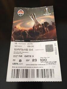 Ticket Match Europa League FC Shakhtar Donetsk Ukraine - Schalke 04 Germany 2016