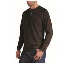Ariat Men's Coffee Bean Long Sleeve Flame Resistant Henley Shirt 10013517