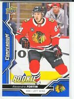 2018-19 Upper Deck Compendium Series 2 BLUE ROOKIE RC Alexandre Fortin