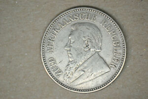 South Africa: 1896 2 1/2 Shillings- VF/EF.  From my Dads Collection