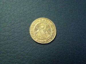 Costa Rica 1847 CR J.B. Gold 1/2 Escudo XF