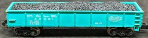 BACHMANN: P&LE #43221 Blue GONDOLA + LOAD. . Vintage N Scale New York Central