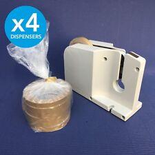 4 x BAG NECK SEALER / Tape Dispenser / Fits up to 12mm / Butcher Veg Food Poly