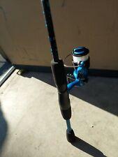 "New! Shakespeare Amphibian Blue Reel and Fishing Rod 5' 6"" Combo"