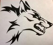 LARGE wolf head tribal vinyl graphic decal car bonnet side sticker ford bmw vw