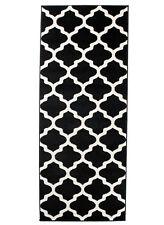 Läufer Teppich Schwarz Marokkanisches Modern Muster Flur Diele Küche