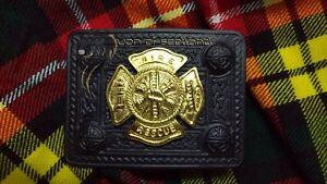 Kilt Belt Buckle 4 Demo Fire Recuse Black Finish Celtic Fire Department Buckles