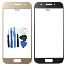 For Samsung Galaxy A3 2017 Front Outer Glass Screen Lens Cover Gold A320 + Tools
