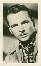 JOHN LUND - PICTURE POST CARD SIGNED