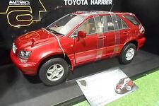 TOYOTA HARRIER rouge red métalisé 1/18 AUTOart 70035 voiture 4X4 miniature RARE!